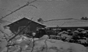 dark and snowy night